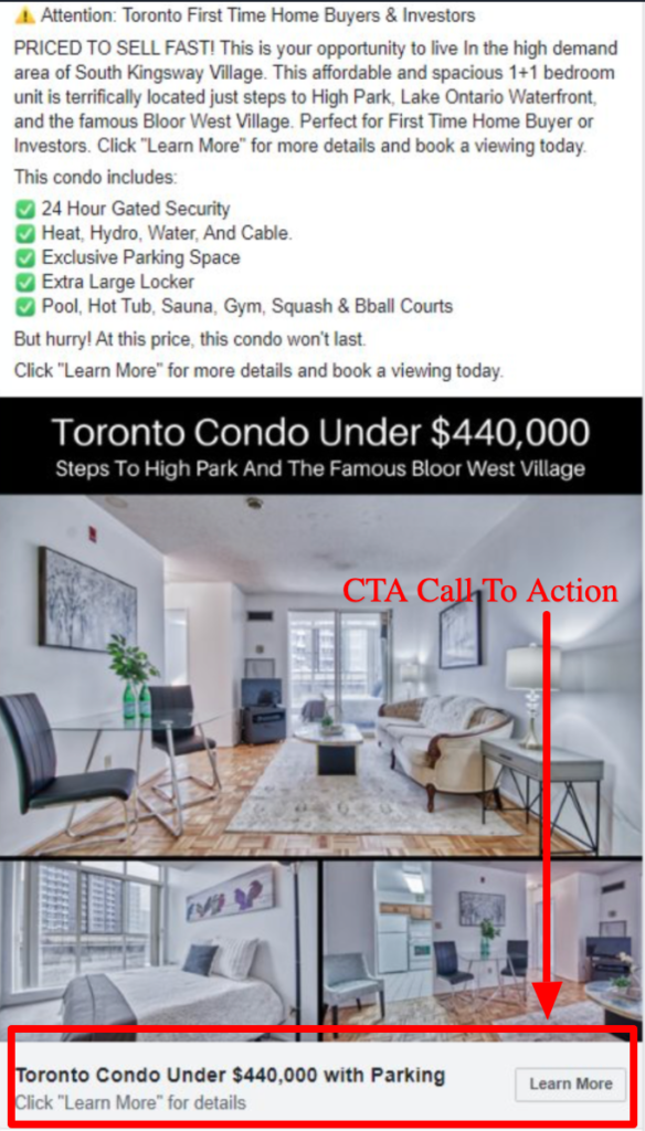 CTA real estate example