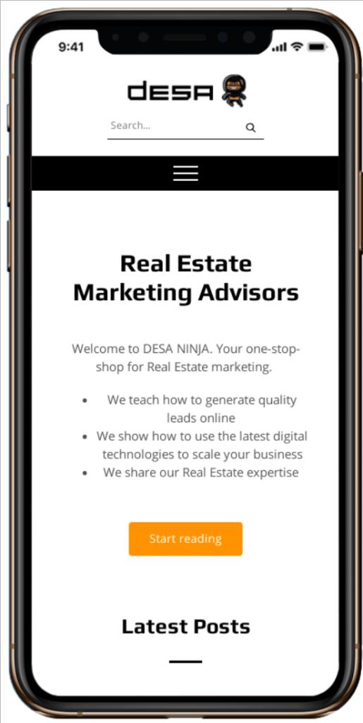 mobile version of a website